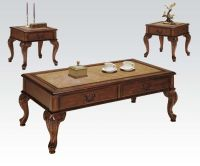Acme Furniture Trudeau 3 Piece Coffee/End Table Set In