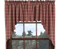 "Country Primitive Braddock Scalloped Swags 36"" Rustic ..."