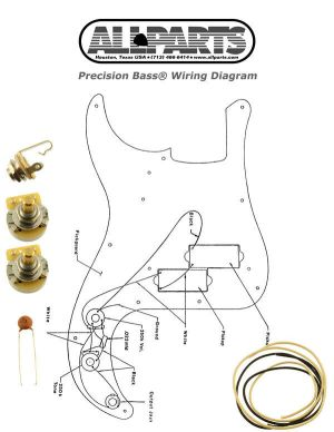 NEW Precision Bass Pots Wire & Wiring Kit for Fender P