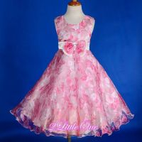 Rose Floral Flower Girl Dress Wedding Pageant Holiday ...