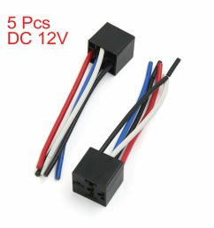 details about universal car 5 pin relay socket holder wiring harness connector dc 12v 5pcs [ 1000 x 1000 Pixel ]