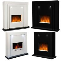 Electric Fire Fireplace Inset Standing Surround LED Lights ...