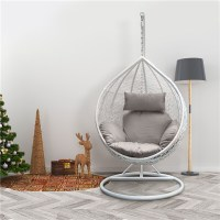 Rattan Swing Patio Garden Weave Hanging Egg Chair w ...