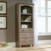 Sauder 419911 Harbor View Library Bookcase With Doors In ...