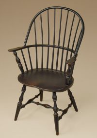 Sack-Back Windsor Arm Chair - Black - Dining or Kitchen ...