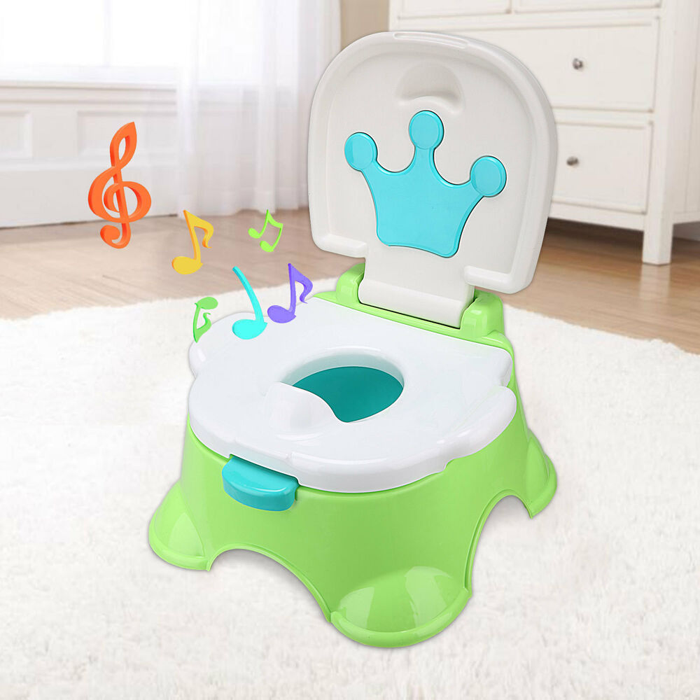 Kids Child Training Toilet 3 in 1 Baby Toddler Music Potty