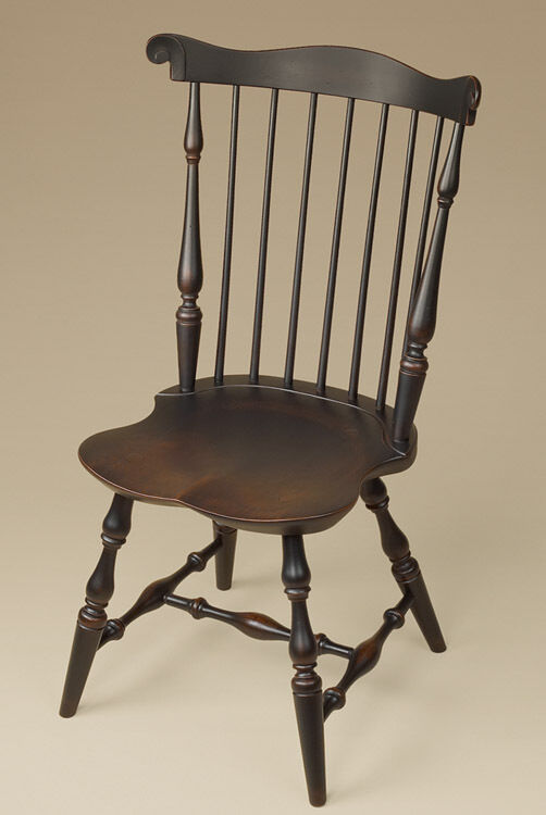 Fan Back Windsor Chair  Antique Style  Wood  Dining