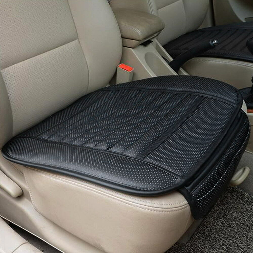 office chair mat bamboo ergonomic bedroom car seat covers black pu leather strips pad auto cushion | ebay