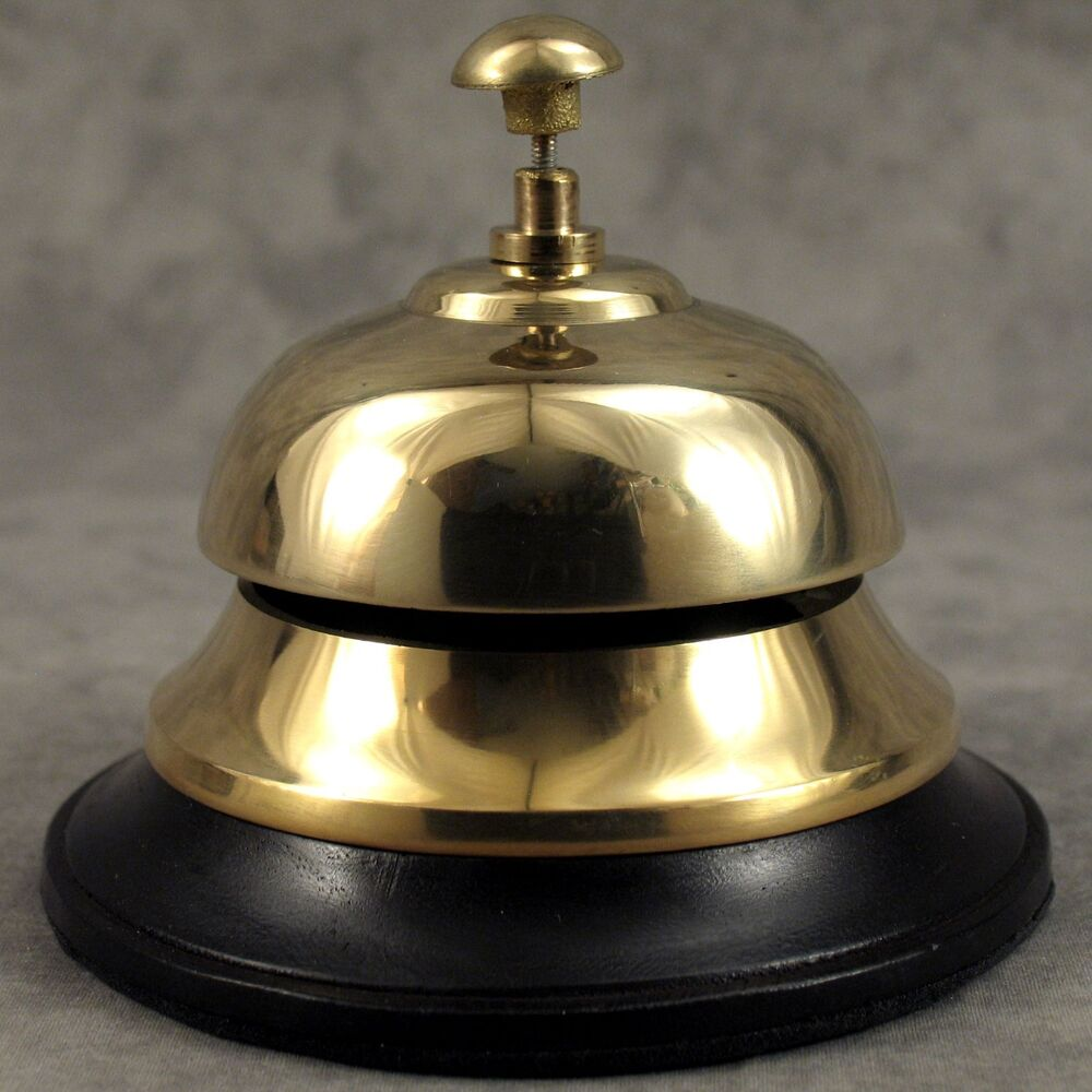 SOLID BRASS HOTEL FRONT DESK BELL SALES SERVICE COUNTER