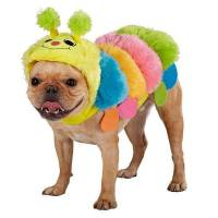 Plush Colorful Caterpillar Costume for Dogs Medium ...