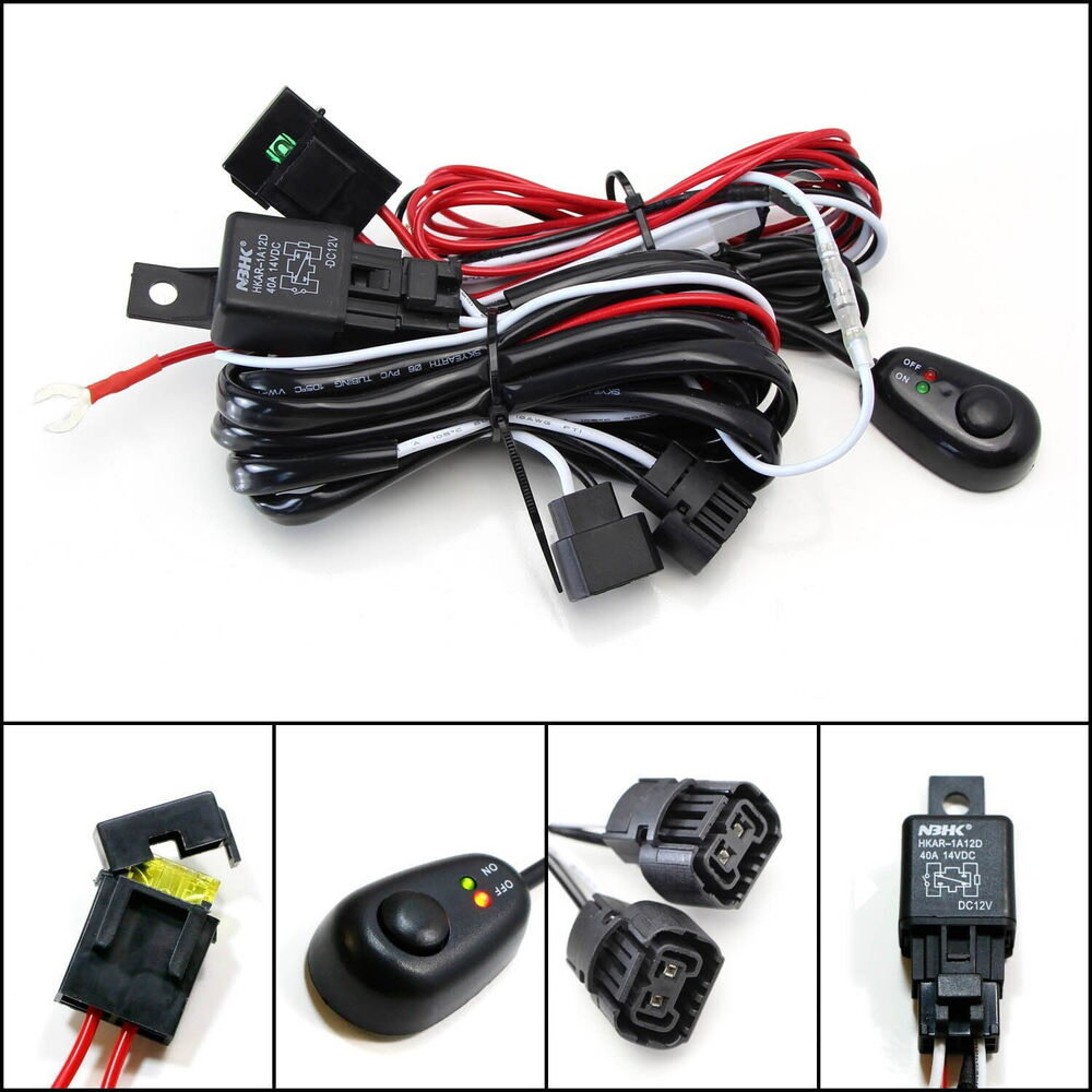 Light Wiring Harness Relay Switch For Off Road Fog Driving Led Lights