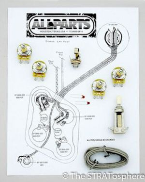 NEW Les Paul Pots Switch & Wiring Kit for Gibson Guitar
