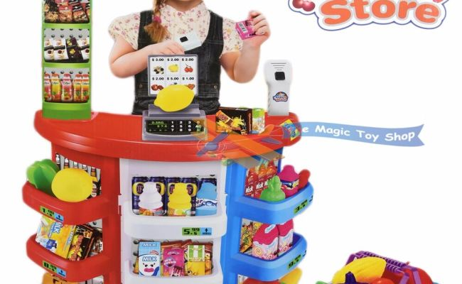 Kids Super Store Supermarket Market Stall Play Food Toy