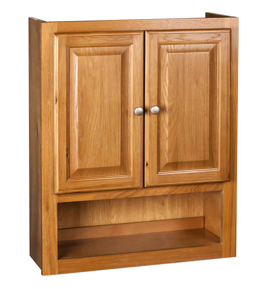 Bathroom Wall Cabinet 21x26 Oak 312221465378  eBay