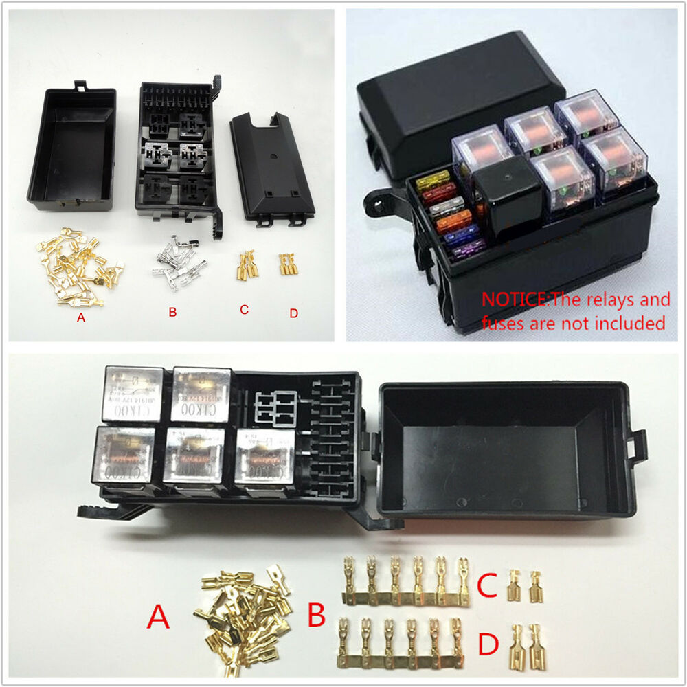 hight resolution of details about car atv fuse box 6 relay relay socket holder 5 road for the nacelle insurance