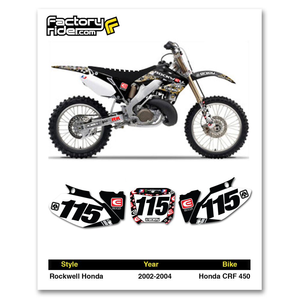 2002-2004 HONDA CRF 450 Team Rockwell Dirt Bike Graphics