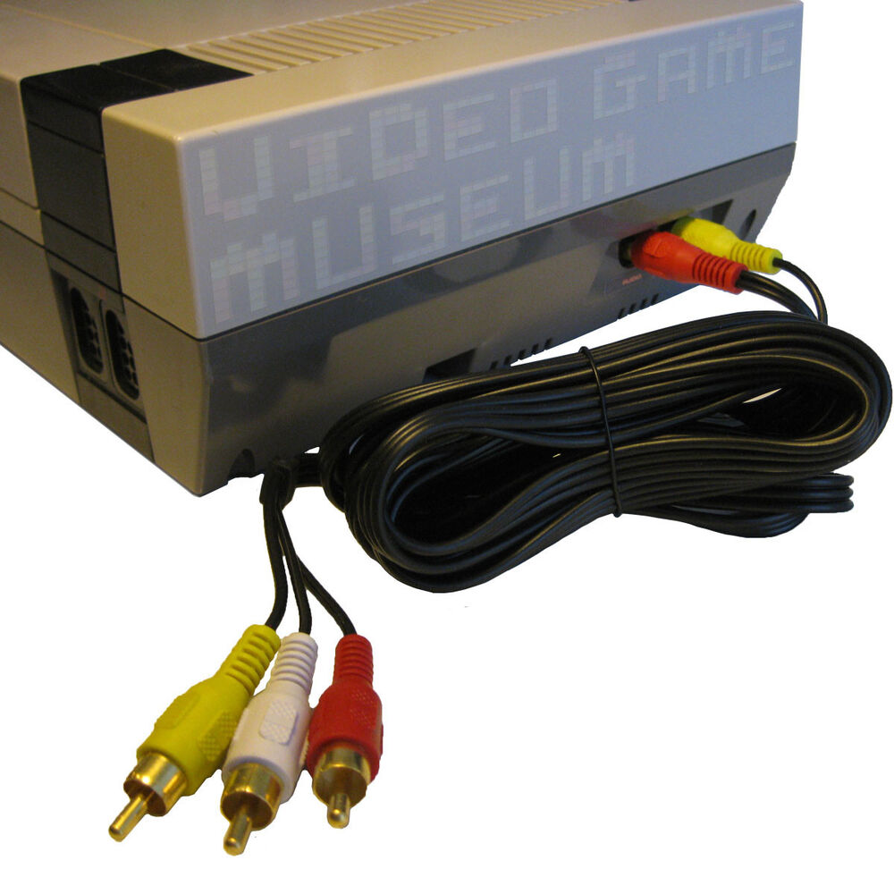 hight resolution of details about vgm nes av cable simulated stereo audio video tv cord original nintendo system