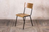 VINTAGE STYLE STACKING CHAIR STACKABLE PLYWOOD RESTAURANT ...