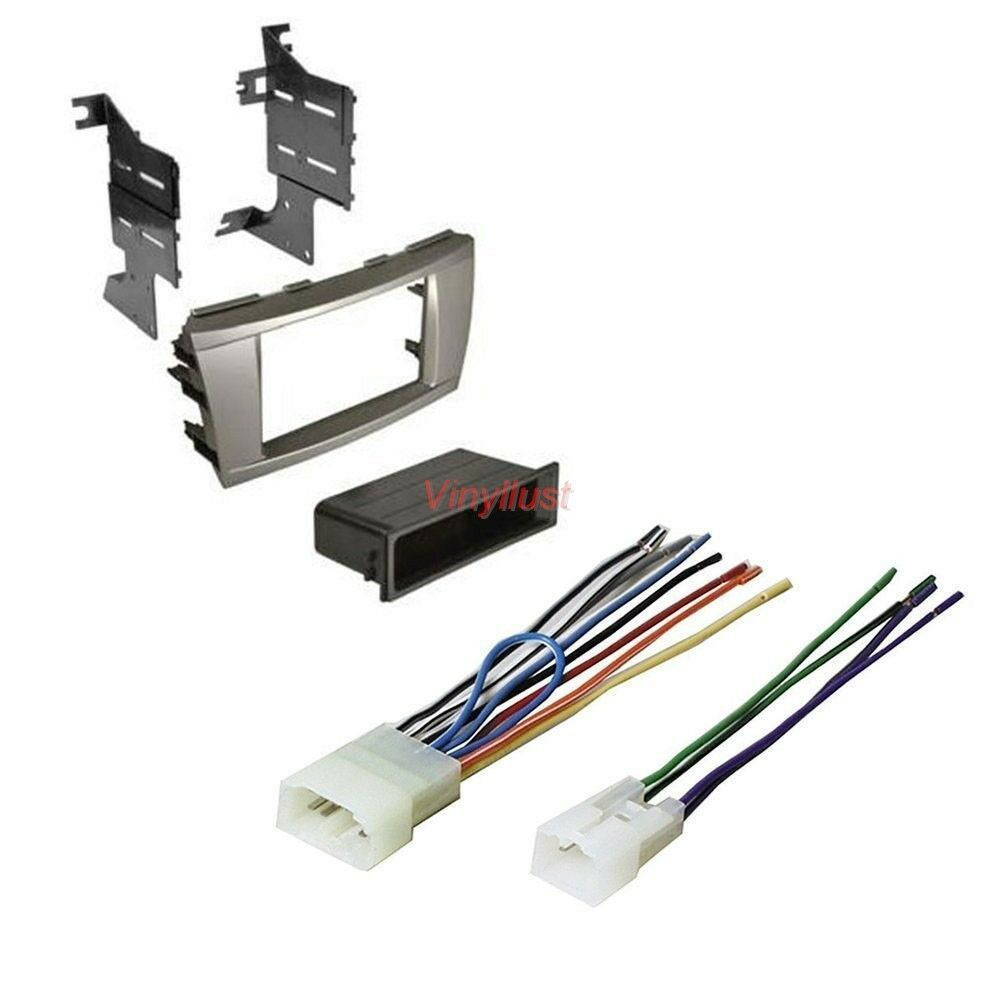 hight resolution of details about complete stereo install kit silver dash radio wire harness select camry t95s8