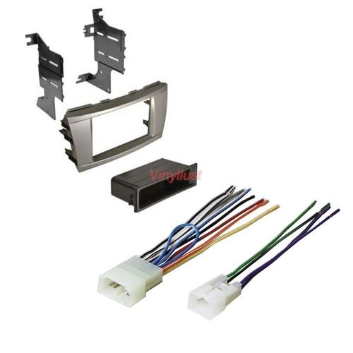 small resolution of details about complete stereo install kit silver dash radio wire harness select camry t95s8