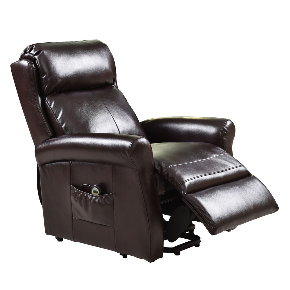 Electric Luxury Power Lift Recliner Chair Leather Lazy