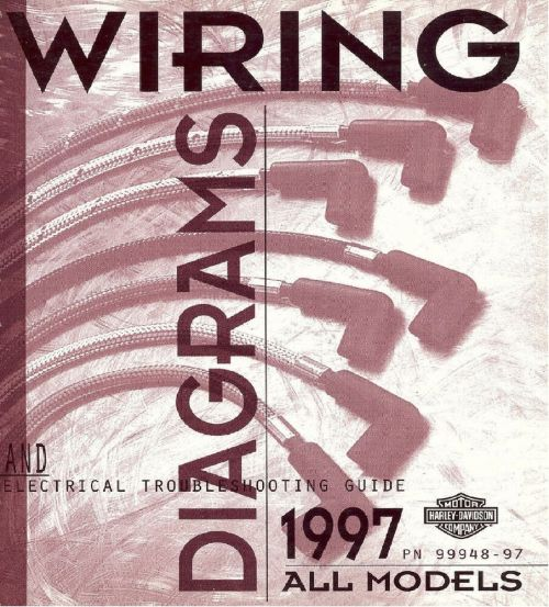 small resolution of 1997 harley wiring diagram schematic electrical troubleshooting manual all 48 97 ebay