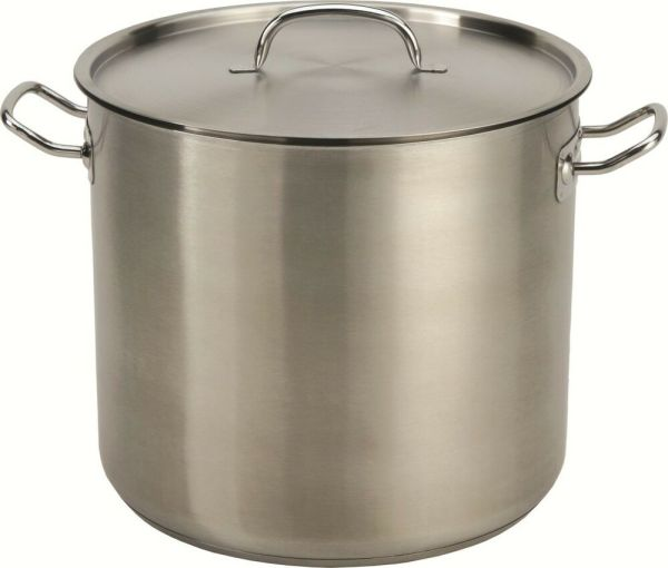 32-35 Qt Quart Heavy Tri-ply Base Stainless Steel Stock Pot Beer Brew Gumbo Stew 878201005144