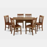 7 Piece Small Kitchen Table Set - Table With Leaf And 6 ...