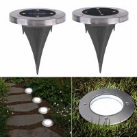 4 LED Buried Solar Power Light Under Ground Lamp Outdoor ...