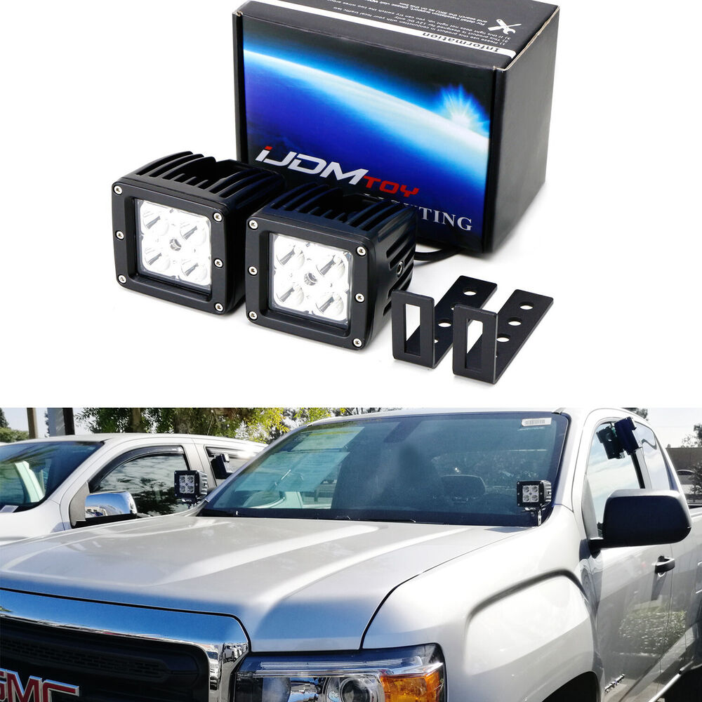 hight resolution of details about cree led pod lights w a pillar mounting brackets wiring for 15 chevy gmc truck