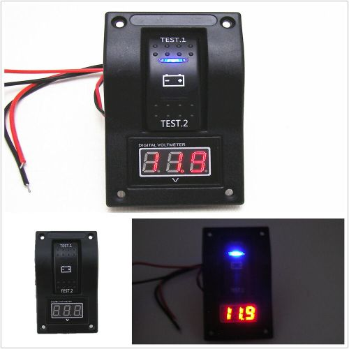small resolution of details about 12v rv suv marine boat voltmeter led light dual battery test panel rocker switch