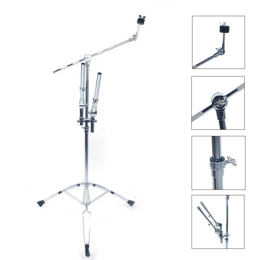 New Adjustable Double Tom Drum Stand Cymbal Boom Mount Arm