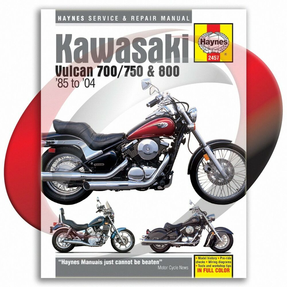hight resolution of 1985 2004 kawasaki vulcan 750 haynes repair manual 2457 shop service 1992 kawasaki vulcan 1500 wiring
