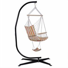 Hammock Chair With Stand Adrian Pearsall Rocking Steel C Frame Porch Swing Free Standing Indoor Details About Outdoor Hook