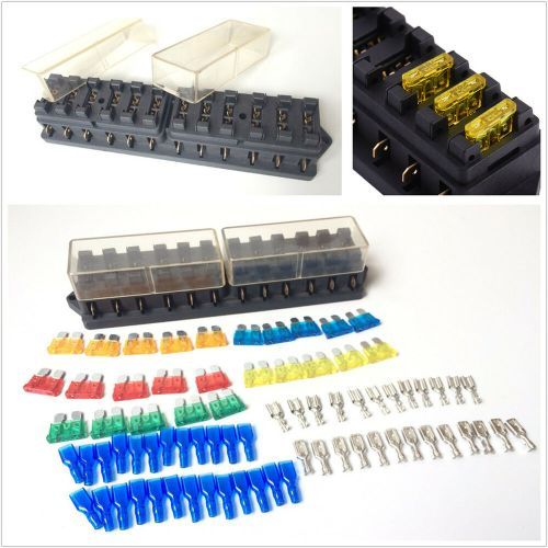 small resolution of details about mini car 12 way circuit blade fuse box block holder 25pc fuse 25pc terminal kit