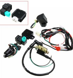 details about motorcycle cdi wiring harness loom ignition solenoid coil rectifier kill switch [ 1000 x 1000 Pixel ]