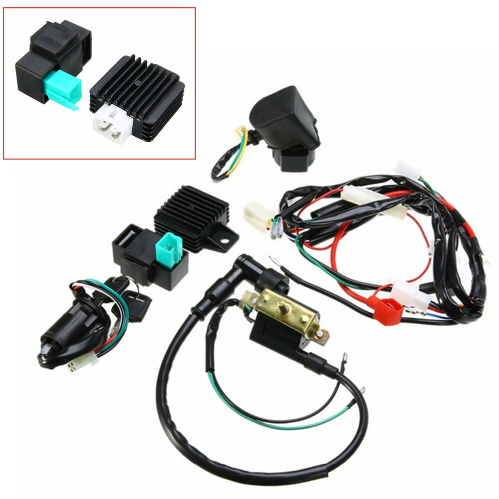 hight resolution of details about motorcycle cdi wiring harness loom ignition solenoid coil rectifier kill switch