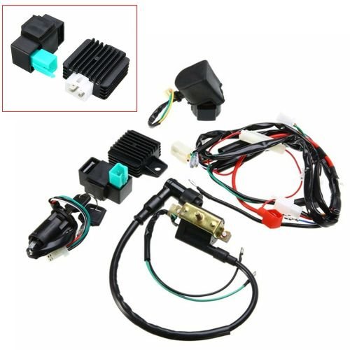 small resolution of details about motorcycle cdi wiring harness loom ignition solenoid coil rectifier kill switch
