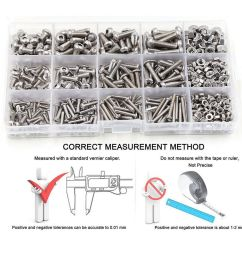 details about 520pcs assorted m3 m4 m5 stainless steel hex screws socket bolts and nuts kit [ 1000 x 1000 Pixel ]