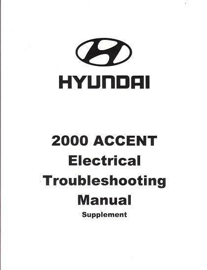 2000 Hyundai Accent OEM Electrical Wiring Diagrams