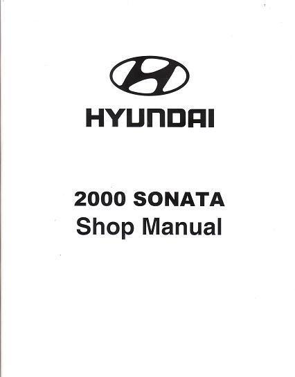 2000 Hyundai Sonata OEM Factory Service Repair Workshop