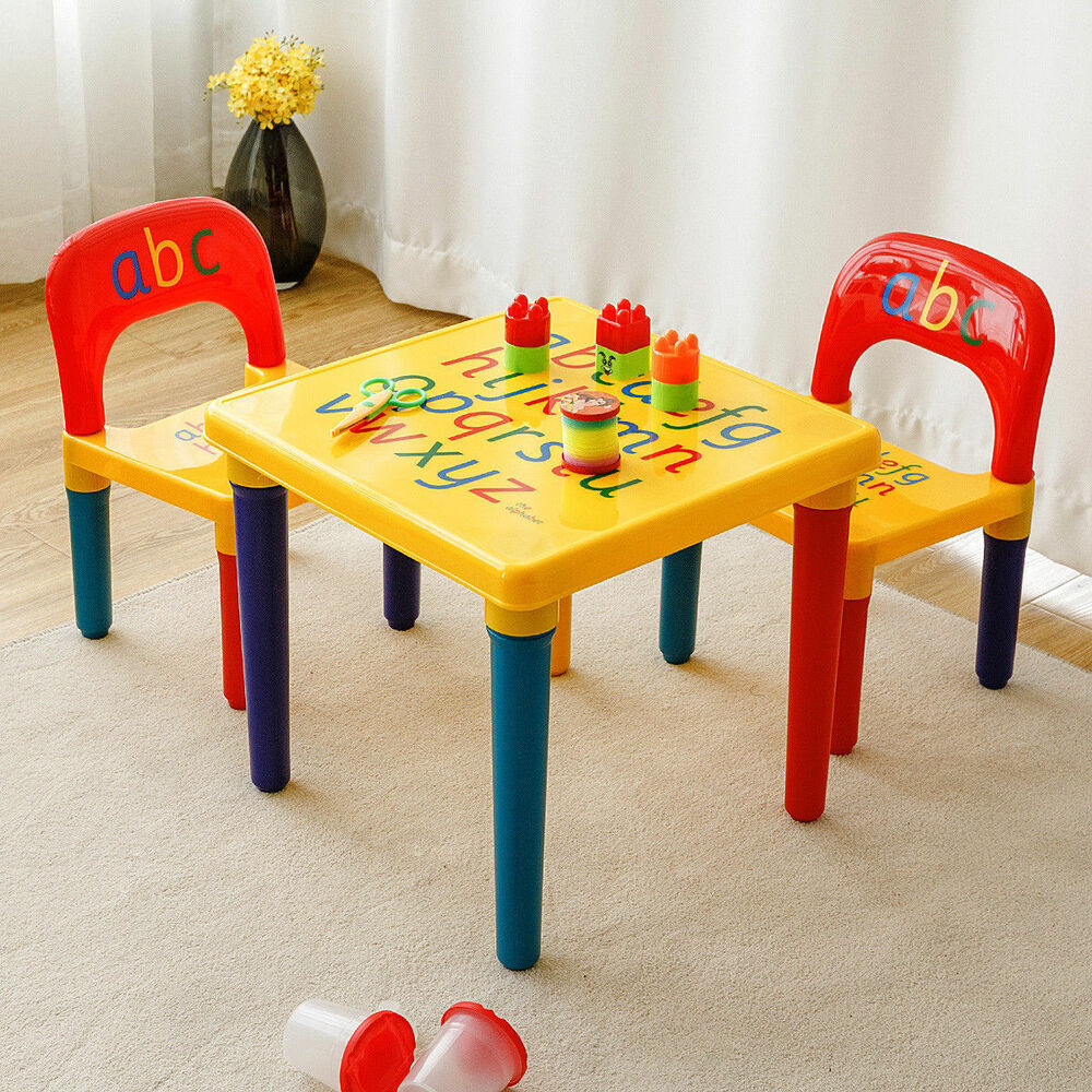 activity table and chair set comfy bedroom toddler child kid play toy educational details about letter furniture