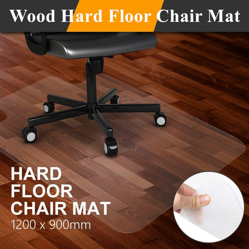 rolling chair mat for wood floors silver velvet dining chairs and table 1 5mm thick home office desk hard floor pvc protector details about usa
