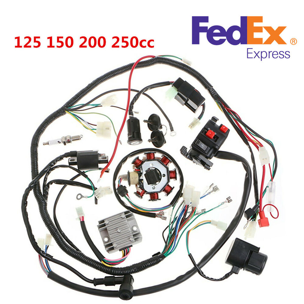 medium resolution of details about 125 250cc motorcycle stator cdi coil electric wiring harness wire loom assembly