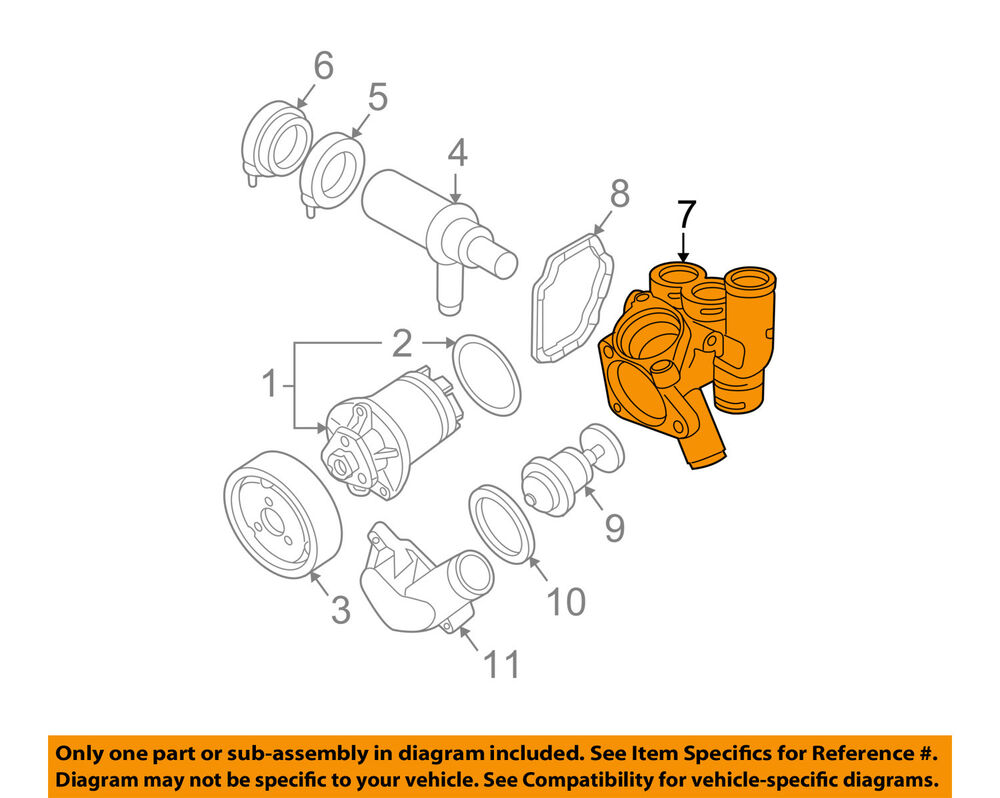 hight resolution of details about vw volkswagen oem 07 08 eos engine coolant thermostat housing 022121117c