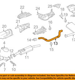 details about ford oem 15 18 focus 2 0l l4 exhaust system exhaust pipe cv6z5230z [ 1000 x 798 Pixel ]