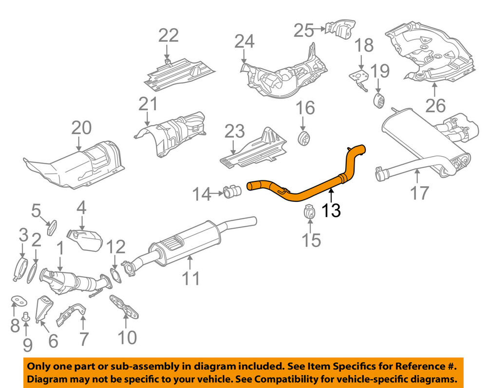 hight resolution of details about ford oem 15 18 focus 2 0l l4 exhaust system exhaust pipe cv6z5230z
