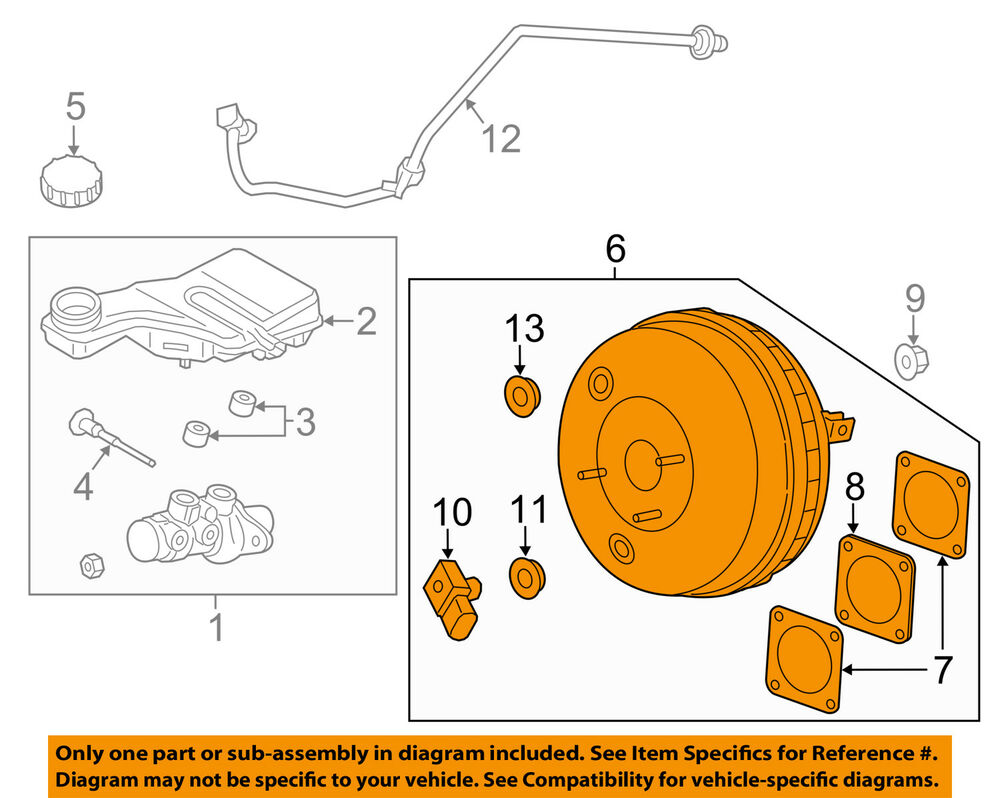 hight resolution of details about lincoln ford oem 13 16 mkz power brake vacuum booster dg9z2005b