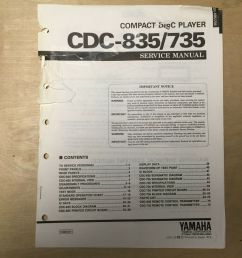 details about original yamaha service manual for the cdc 835 cdc 735 cd player repair [ 1000 x 1000 Pixel ]