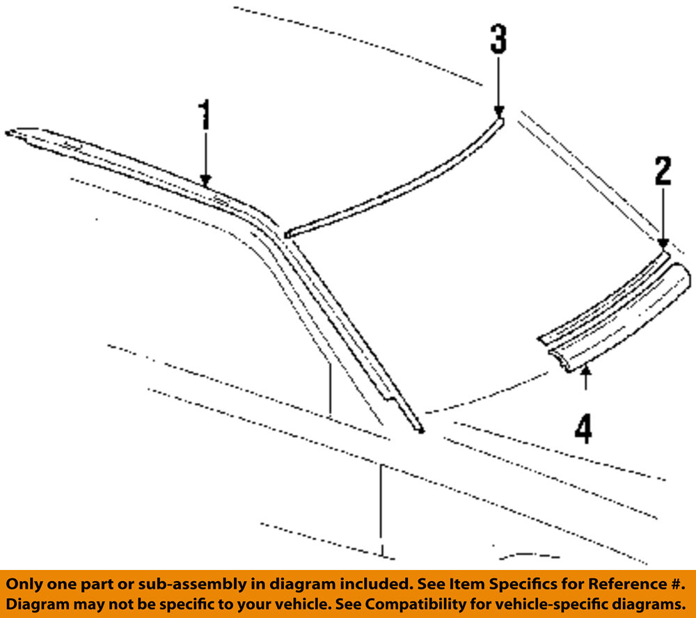 medium resolution of details about mercedes oem 94 95 e320 windshield glass reveal molding 1246703222